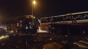 11 کشته و مجروح در تصادف خونین اتوبوس و تریلی در آزادراه کرج - قزوین