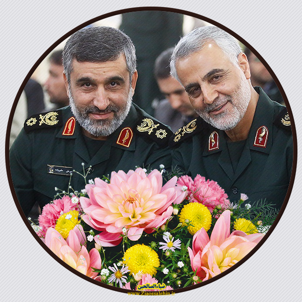 عکس زیبا برای پروفایل از شهید حاج قاسم و سردار حاجی زاده