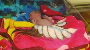 رها کردن نوزاد 5 روزه مقابل بهزیستی تبریز
