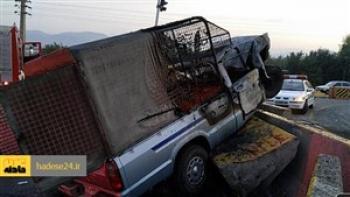 11 کشته در تصادف خودرو حامل موادسوختی قاچاق با خودروی حامل قاچاق انسان