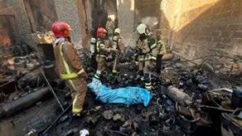 مرگ هولناک کارگر جوشکار در انفجار مخزن روغن