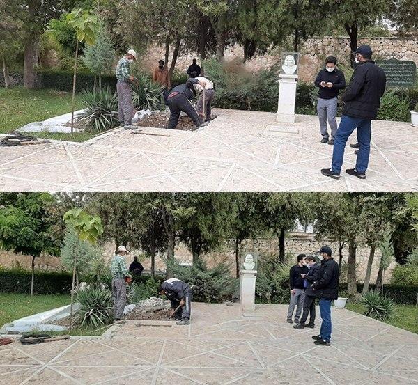 اولین عکس از محل دفن پیکر استاد محمد رضا شجریان