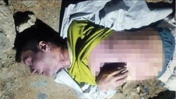 کشف جسد مرد جوان لابه لای سنگ های خیابانی در مشهد 18 +