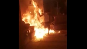 آتش افروز خانه برادر ، دستگیر شد
