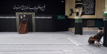 برگزاری مراسم عزاداری رحلت رسول اکرم(ص) و شهادت امام حسن(ع) با حضور رهبر معظم انقلاب