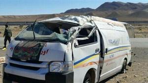 واژگونی مرگبار آمبولانس اورژانس شاهرود