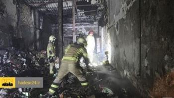آتش سوزی هولناک کافه ای در رشت