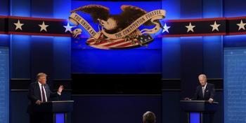 پخش زنده آخرین مناظره ترامپ و بایدن از رادیو گفت وگو
