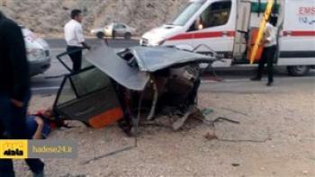 مرگ تلخ 4 نفر در تصادف پراید و سمند