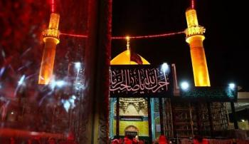 حضور باشکوه عزاداران عراقی در حرمین امامین عسکریین (ع)+تصاویر