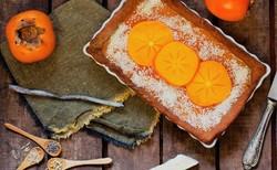 طرز تهیه کیک خیس ترکیهای خرمالو و گردو خوشمزه