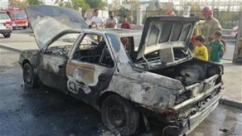 آتش سوزی ناگهانی پژو پارک شده در شوش