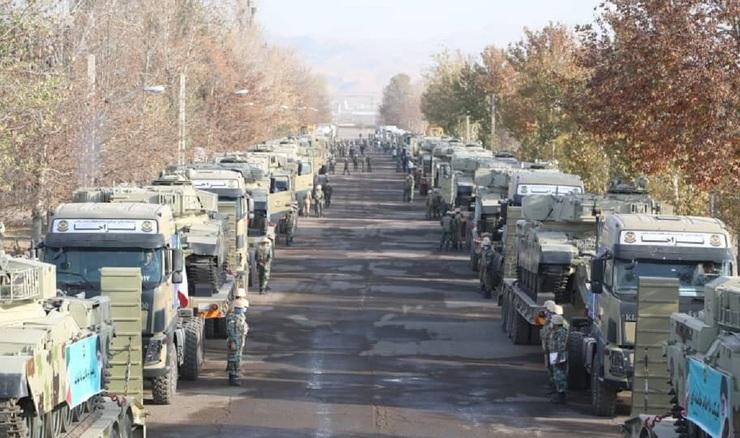 اعزام تیپ ۱۱۶ زرهی قزوین به مناطق مرزی شمال غرب کشور