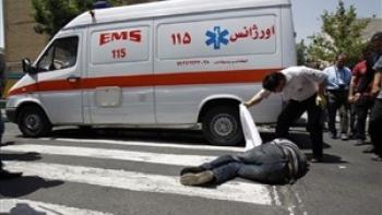 تصادف اپتیما با آمبولانس / یک تماشاگر کشته شد