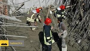 سقوط مرگبار کارگر ساختمانی از داربست