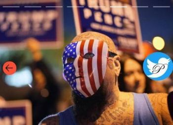 عکس: هوادار خشمگین ترامپ در شهرستان کلارک!