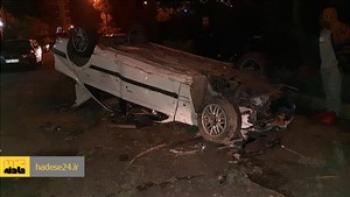 2 کشته و 5 زخمی در واژگونی پژو 405