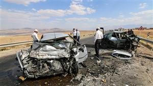 دو کشته در تصادف وحشتناک پراید و پژو در محور داراب- بندرعباس