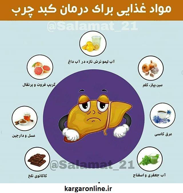 علاج کبد چرب+روش ارگانیک