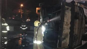 اولین عکسها از آتش سوزی پمپ بنزین پیروزی
