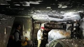 آتش سوزی خانه قدیمی در محله فلاح