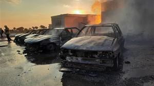 یک کشته در پی انفجار سیلندرهای گاز در بلوار کرمان خودرو