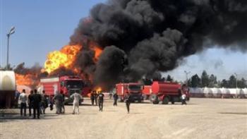 قربانیان آتش سوزی پتروشیمی خارک 2 نفر شدند