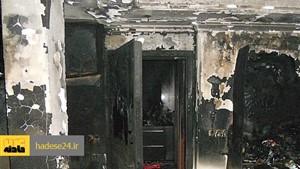 مرگ هولناک بچه ۹ساله در آتشسوزی عمدی منزل