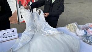 لباس عروس آغشته به شیشه بود