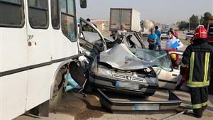 تصادف زنجیرهای در محور مسجدسلیمان به لالی / ۳۰ کارگر پتروشیمی را راهی بیمارستان کرد