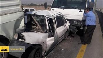 تصادف زنجیرهای مرگبار در قزوین