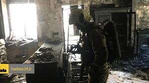 آتش خانه ۷۵ متری در شهرک ولیعصر را نابود کرد