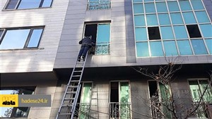 آتش سوزی هولناک ساختمان اداری در خیابان بخارست