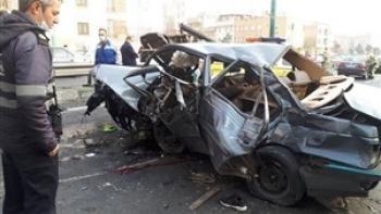 جزئیات تصادف خونین ۲ خودرو در بزرگراه یادگار امام