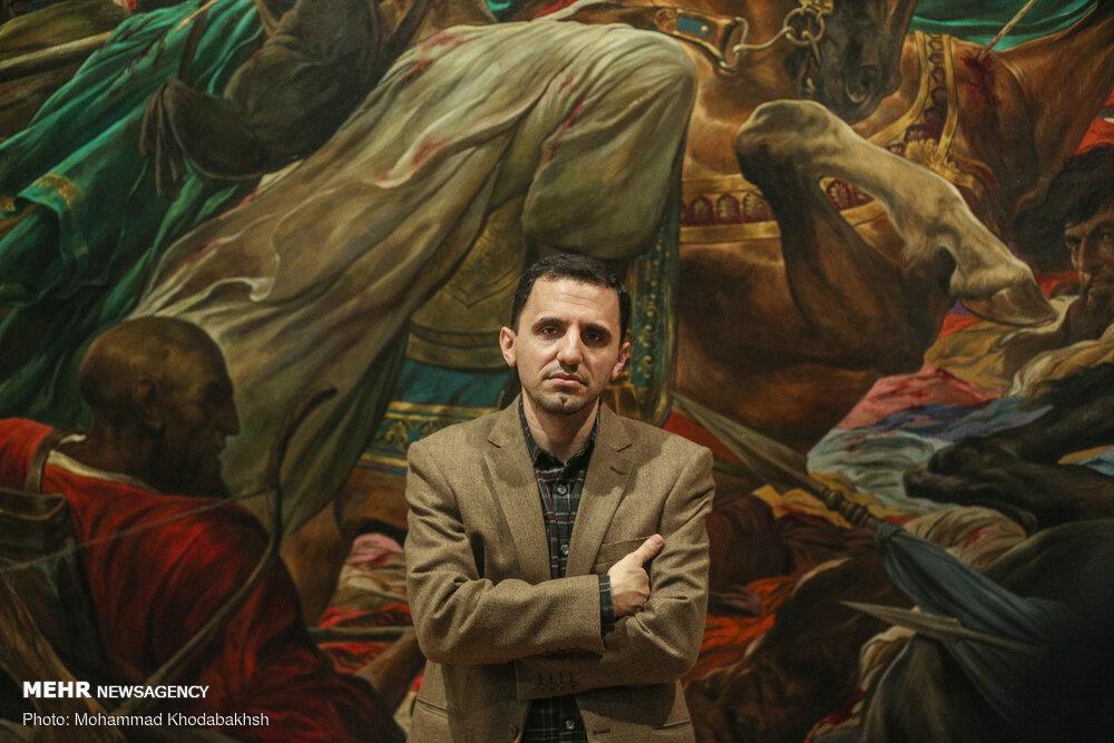 نمایشگاه حسن روحالامین افتتاح شد/ خلق آثار با هدف توسل و تبلیغ