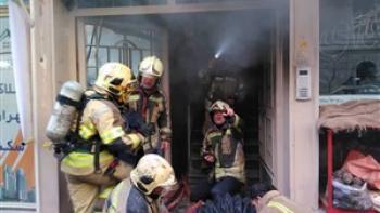 آتش سوزی تعمیرگاه خودرو در خیابان فاطمی