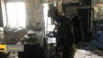 زنده زنده سوختن مردی در آتش سوزی خانه سرایداری