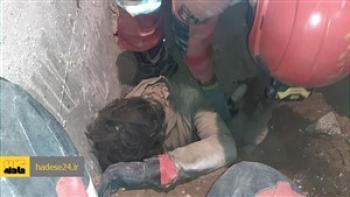 زنده به گورشدن یک کارگر زیر خروارها خاک