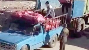 سارق مشهدی کامیون را با ۵ تن سیب زمینی سرقت کرد