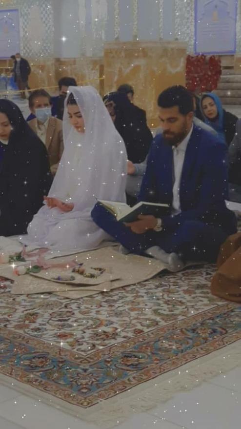 مراسم ازدواج ورزشکار نامی در حرم امام رضا (ع) +عکس