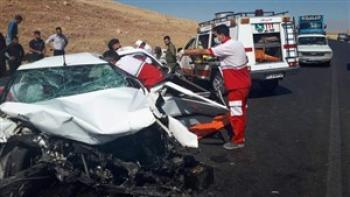 واژگونی  خودروی دنا در شهداد کرمان