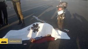 مرگ دو موتورسوار در تصادف جاده سردشت - دزفول