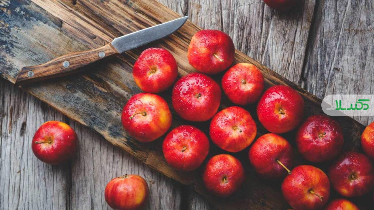 عوارض خوردن بیش از حد سیب