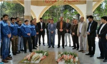 تجدید میثاق کارگران آبیک با عرشیان گمنام