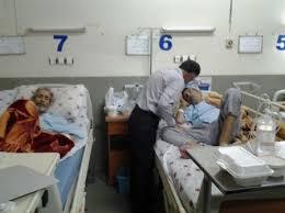 عیادت از کارگران بستری در بیمارستان امام حسین ع زنجان