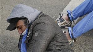دستگیری سارق قطعات راه آهن هنگام سرقت