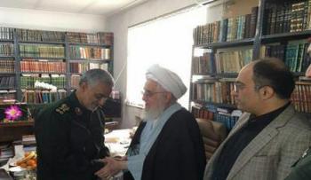 سنت شکنی سردار سلیمانی در گیلان/تصاویر
