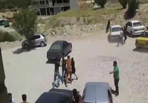 نزاع دانشجویان دانشگاه پیام نور با پرتاب سنگ!/ فیلم