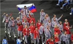 جریمه و محرومیت در انتظار ورزشکار حامل پرچم روسیه +عکس