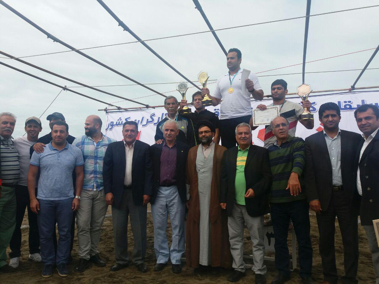قهرمانی شهرداری تهران در اولین دوره مسابقات کشتی ساحلی کارگران
